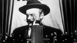 """Орсон Уэллс в главной роли в собственном фильме """"Гражданин Кейн"""". 1941 г."""