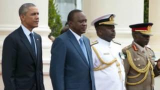 Shugaba Obama da shugaba Uhuru Kenyatta.