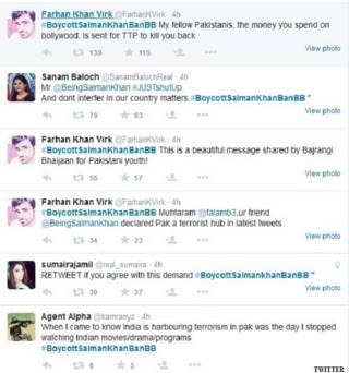 पाकिस्तान में ट्विटर पर छाए रहे सलमान खान
