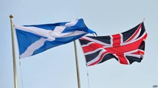 Флаги Шотландии и Соединенного Королевства