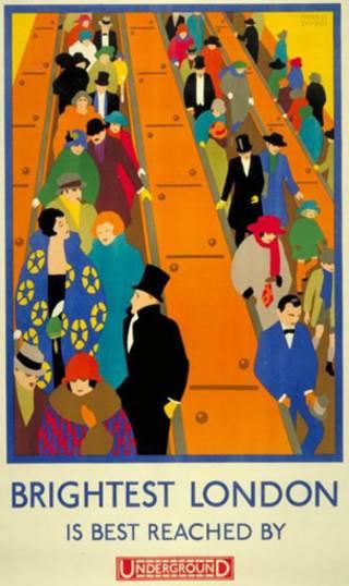 泰勒設計的經典倫敦地鐵海報