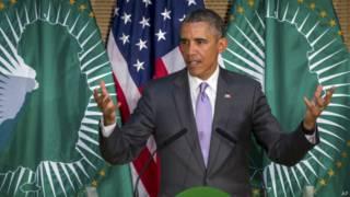 Obama em discurso na União Africana, na última terça-feira (AP)
