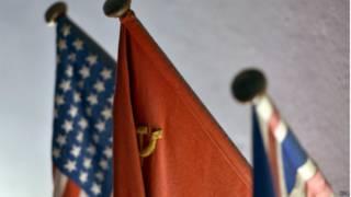 Флаги стран-участниц, использовавшиеся во время Потсдамской конференции