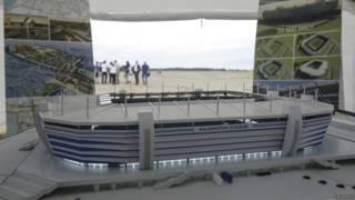 Макет нового стадиона в Калининграде