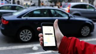 Aplicativo Uber (AFP)