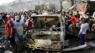 مقتل العشرات في انفجار شاحنة في سوق مزدحم شمالي شرق بغداد