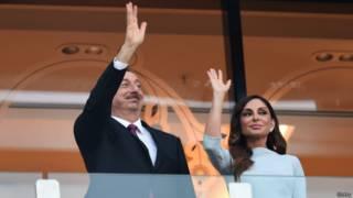 Президент Алиев с супругой