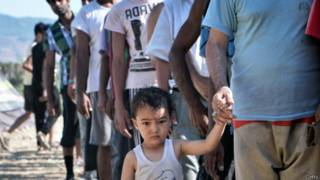 Мальчик-беженец из Сирии