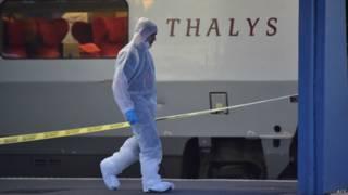 फ़्रांस में ट्रेन पर हमला