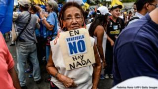 Manifestante na Venezuela (Foto: Federico Parra/AFP/Getty Images)