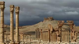 Baal Shamin Temple in Palmyra, Syria