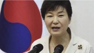 दक्षिण कोरिया की राष्ट्रपति पार्क गियून-हाय