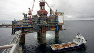 Норвежская нефтегазовая платформа