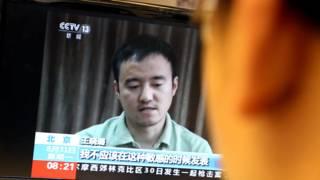 中国央视播出王晓璐采访(31/8/2015)