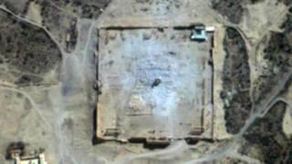 Разрушенный храм Бэла - вид из космоса
