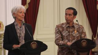 Christine Lagarde dan Joko Widodo