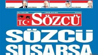 तुर्की के अखबार का पहला पन्ना