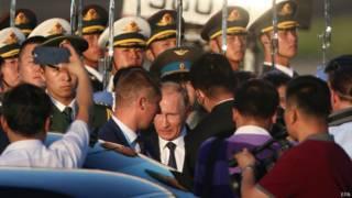 Прибытие президента Путина в Пекин 2 сентября 2015 г.