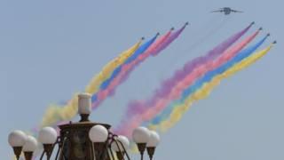中國舉行七十週年抗戰勝利的閱兵儀式,儀式盛大史無前例