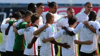 El minuto de silencio de Portugal