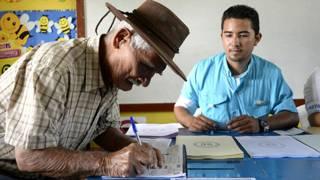 Votante en Guatemala