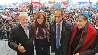 Lula, Cristina e Daniel Scioli (Foto: Ricardo Stuckert/Instituto Lula)