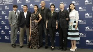 《老炮兒》劇組出席威尼斯影展。