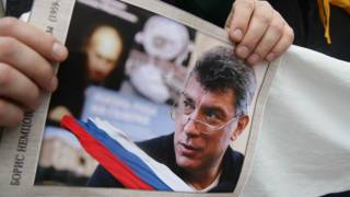 Плакат с фотографией Немцова