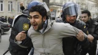 Разгон демонстрации в Баку