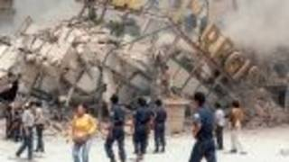Ruinas del Hotel Regis, colapsado en el sismo de 1985 en Ciudad de México.