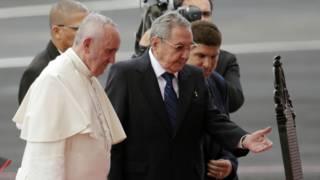 教宗和卡斯特羅