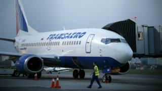 俄罗斯全禄航空的飞机在基辅国际机场
