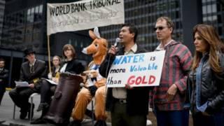 Protestas contra proyectos mineros en El Salvador