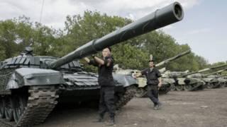 Танки близ Донецка