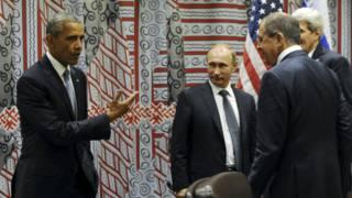 Обама и Путин в кулуарах ООН