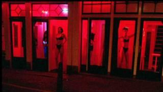 Район красных фонарей в Амстердаме