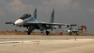 Российский СУ-30 в Сирии