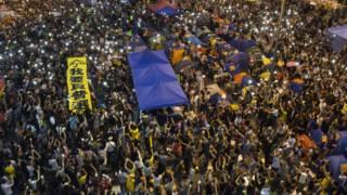 「雨傘運動」金鐘佔領區