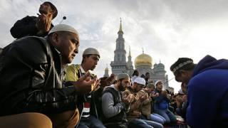 Musulmanes en Moscú