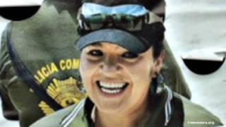 Nestora Salgado, comandanta de la policía comunitaria de Olinalá, Guerrero. Foto: cortesía Freenestora.org