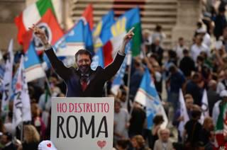 Митинг против мэра Рима