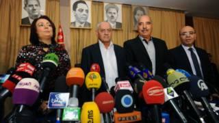 лідери Туністського квартету під час нагородження