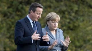 Дэвид Кэмерон и Ангела Меркель