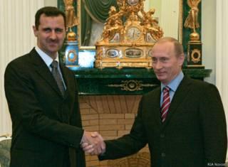 Владимир Путин и Башар Асад в Кремле (19 декабря 2006 года)