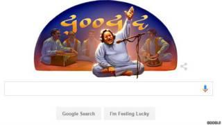 नुसरत फ़तेह अली ख़ान पर गूगल डूडल