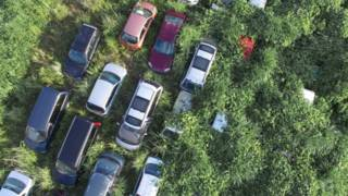 coches abandonados en Fukushima
