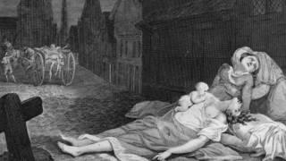 Víctimas de la peste negra en el siglo XVII, en Londres.