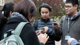 在英国留学的中国留学生