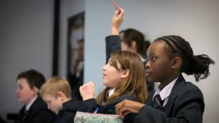 Британские школьники в классе