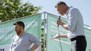 Леонид Волков и Алексей Навальный